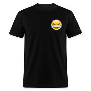 Custom Crying Laughing Emoticon Designer T-Shirt - Men's T-Shirt