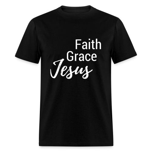 Faith Grace Jesus - Men's T-Shirt