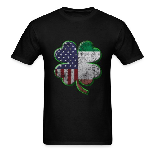Irish American Shamrock Flags - Men's T-Shirt