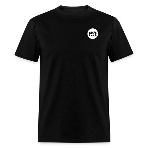 Biker Dude Circle Logo - Men's T-Shirt