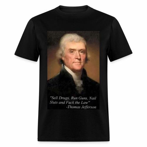 Thomas Jefferson inspirational graphic tee - Men's T-Shirt