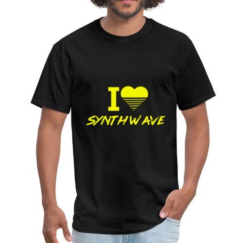 I heart synthwave (yellow) - Men's T-Shirt