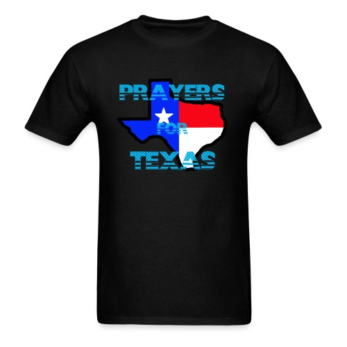 Prayers For Texas Flipped Coloring - Men's T-Shirt