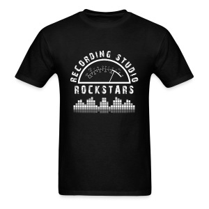 Recording Studio Rockstars - White Logo - Men's T-Shirt