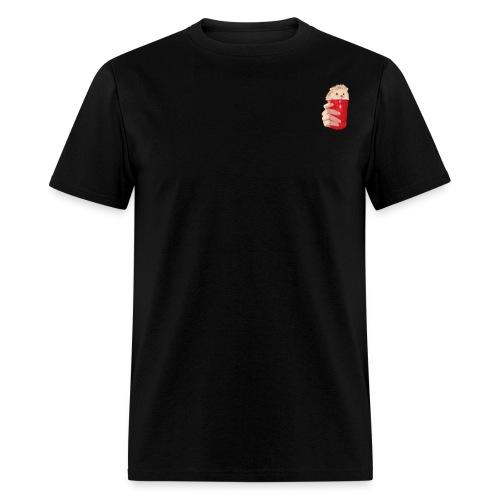 hedgehog drink - Men's T-Shirt