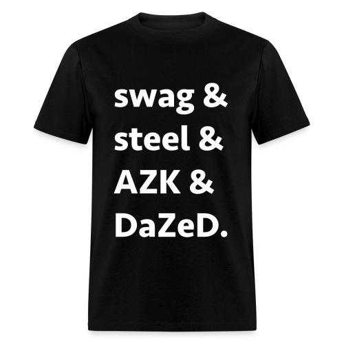 ssad white letters - Men's T-Shirt