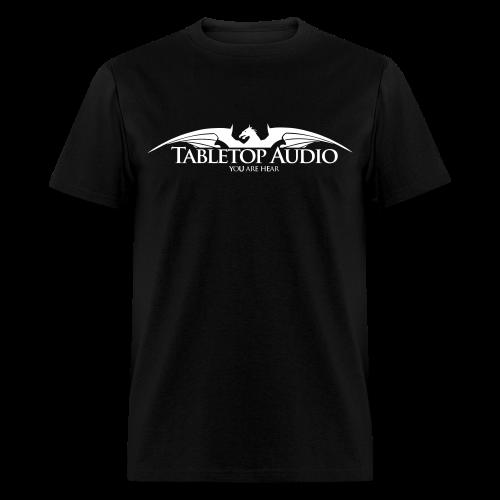 Tabletop Audio: Logo White - Men's T-Shirt