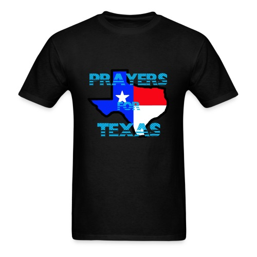 Prayers For Texas Flipped Coloring - Men's T-Shirt