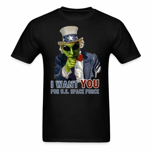 Alien Uncle Sam | Space Force T-Shirt - Men's T-Shirt