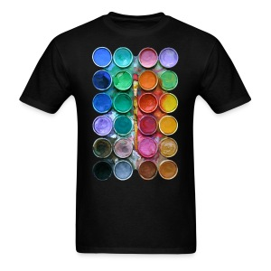 watercolor rainbow abstraction pallete T-shirt - Men's T-Shirt