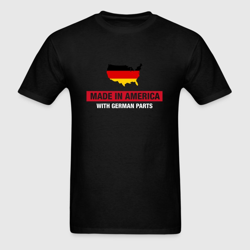 Made In America With German Parts Germany Flag - Men's T-Shirt