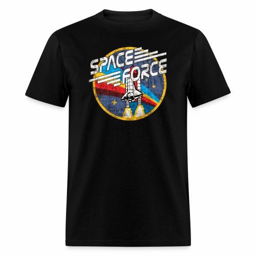 Shuttle Blast 'Distressed' | Space Force T-Shirt - Men's T-Shirt
