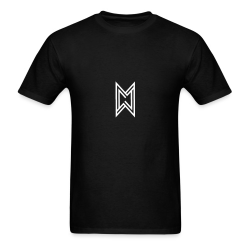 TheMWarrior White Logo Black T-Shirt - Men's T-Shirt
