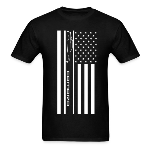 Camaro American Flag - Men's T-Shirt