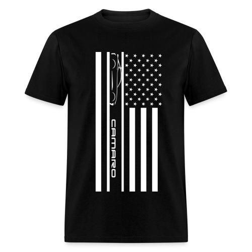 Camaro American Flag - Men's T-Shirt