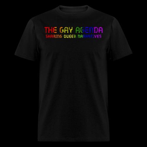 The Gay Agenda - Rainbow Paint Logo - Men's T-Shirt