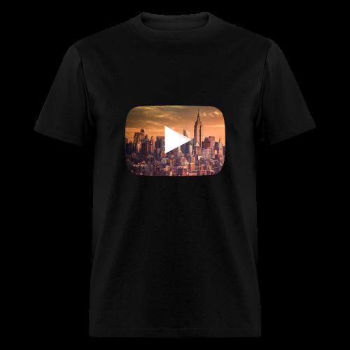 Night Youtube symbol - Men's T-Shirt