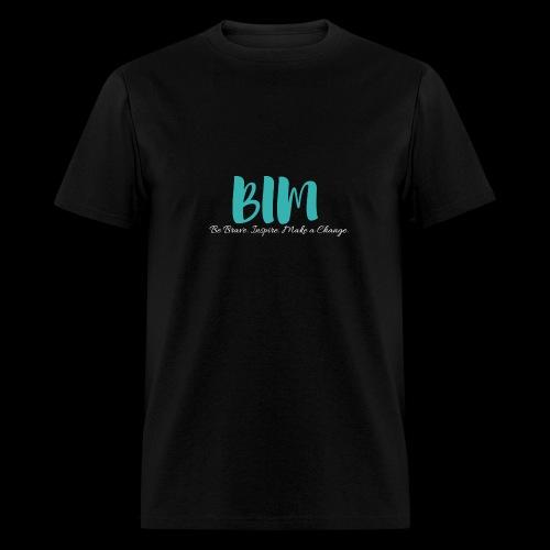 BIM Turquoise/Black - Men's T-Shirt