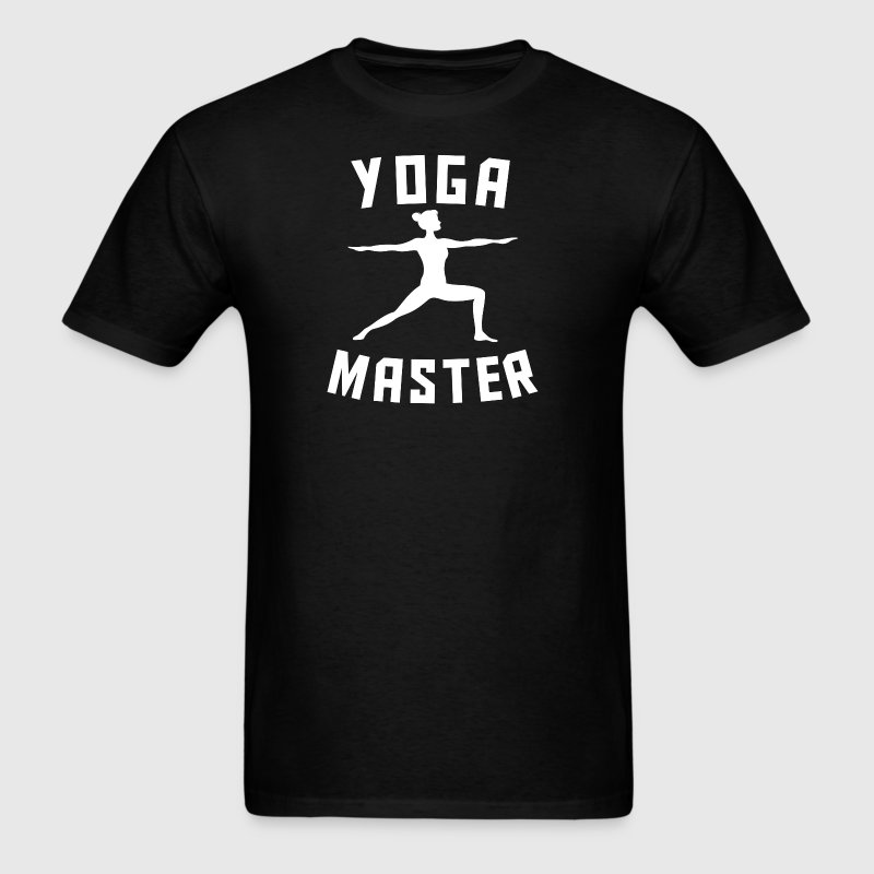 Yoga Master Warrior Two Silhouette Funny Yoga - Men's T-Shirt