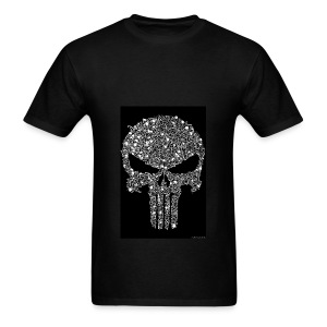 Skull wire theme - Men's T-Shirt