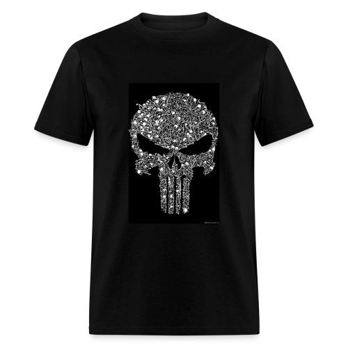 Skull wire theme - Men's T-Shirt