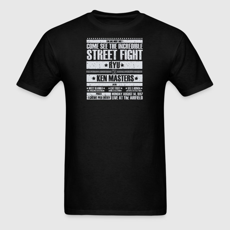 Come see the incredible street fight - Men's T-Shirt