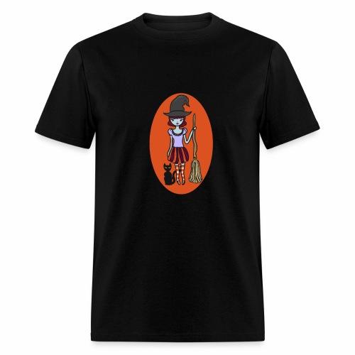 Gigi the good witch (orange oval background) - Men's T-Shirt