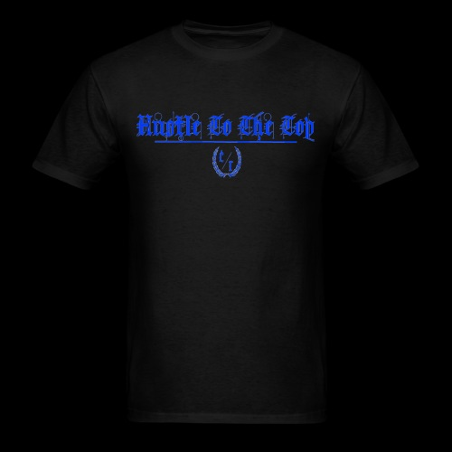 Hustle To The Top - Blue Text - Men's T-Shirt