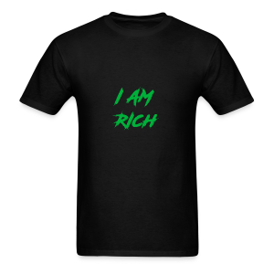 I AM RICH (WASTE YOUR MONEY) - Men's T-Shirt