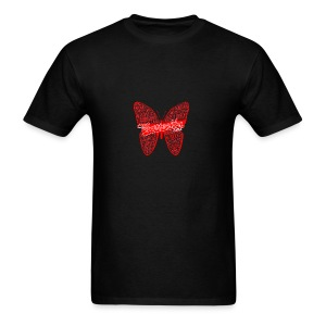 BUTTERFLY WORD RED - Men's T-Shirt
