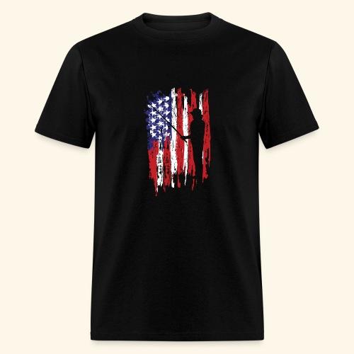 Fisherman US Flag - Men's T-Shirt