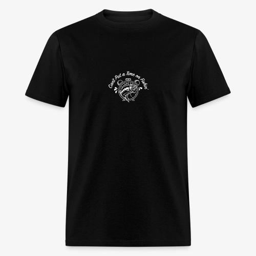 White Logo -- Clock and Fish - Men's T-Shirt