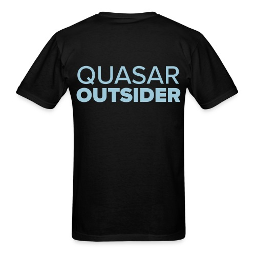 Quasar Outsider logo - Men's T-Shirt