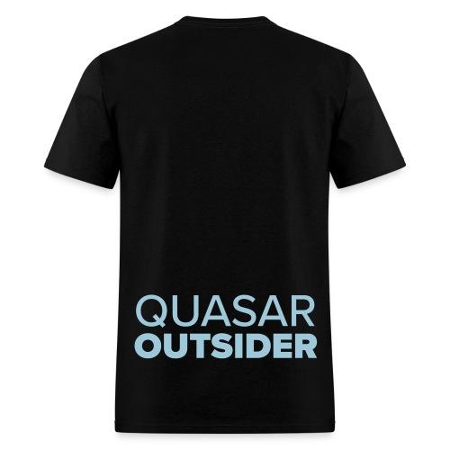 Quasar Outsider logo - Men's T-Shirt