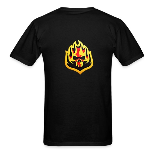 ListenTunes Fire Skull - Men's T-Shirt