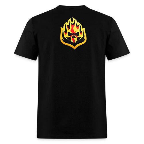 ListenTunes Fire Skull - Men's T-Shirt