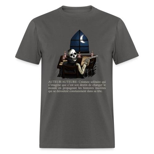 Définition AUTEUR/AUTEURE (cape noire) - T-shirt pour hommes
