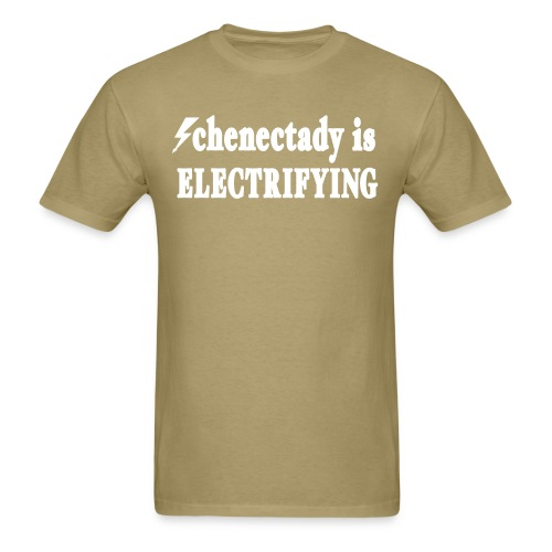 New York Old School Schenectady is Electrifying - Men's T-Shirt