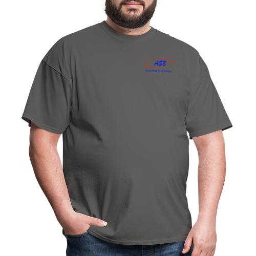 Color Logo Initials With Name - Men's T-Shirt