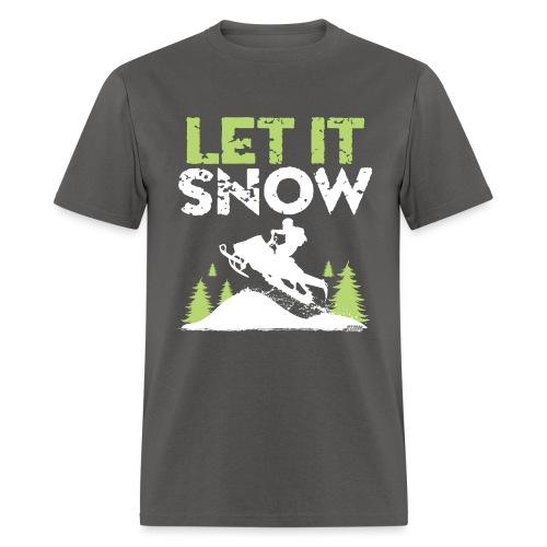Snowmobile Let It Snow - Men's T-Shirt
