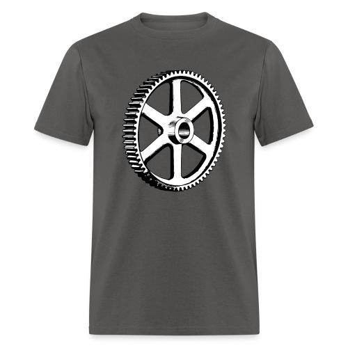 Big Gear Wheel - Vintage Illustration - Men's T-Shirt