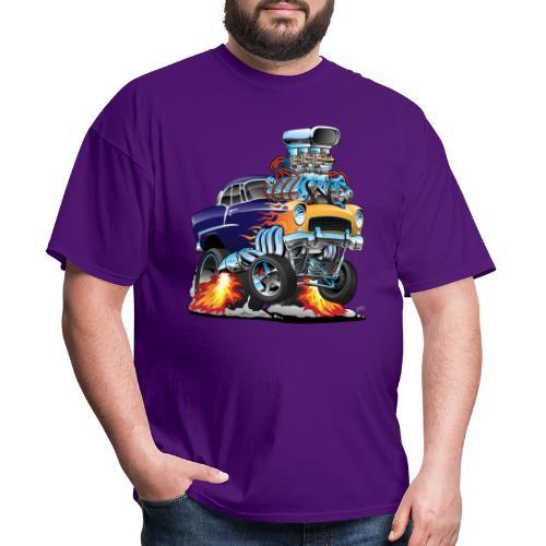 Classic Fifties Hot Rod Muscle Car Cartoon - Men's T-Shirt
