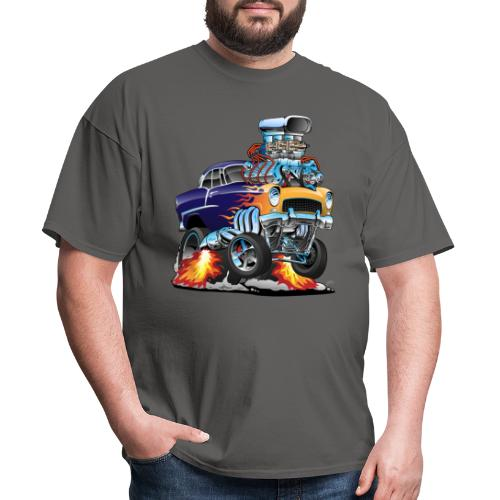 Classic Fifties Hot Rod Muscle Car Cartoon - Men's T-Shirt