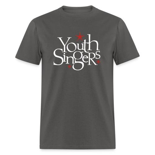 ysc logo words vertical white - Men's T-Shirt