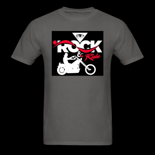 Eye Rock and Ride design black & Red - Men's T-Shirt