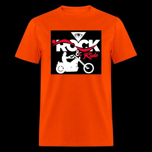 Eye Rock and Ride design black & Red - Men's T-Shirt