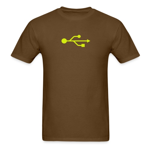 Yellow USB Logo Mid - Men's T-Shirt