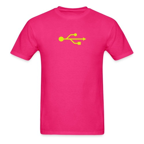 Yellow USB Logo Mid - Men's T-Shirt