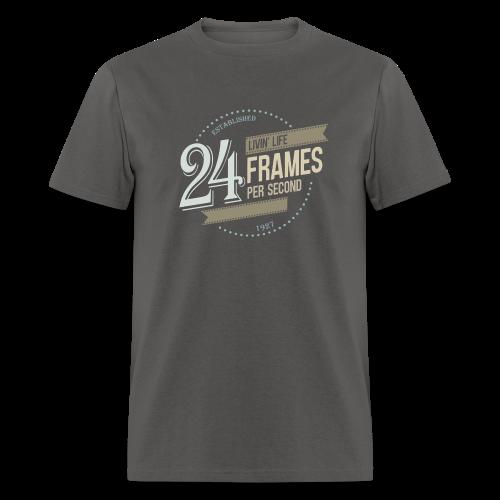 Livin' Life 24 Frames per Second - Men's T-Shirt