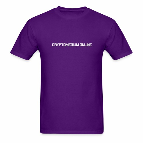 cryptomedium logo light - Men's T-Shirt